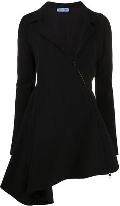 Thierry Mugler Asymmetric Collared Dress