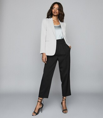 Reiss Neya - Textured Tailored Blazer in Silver