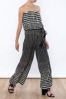 Ariella Geometric Strapless Jumpsuit