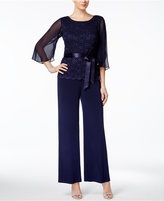 Connected Sequined Wide-Leg Jumpsuit