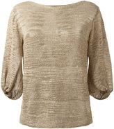 D-Exterior D.Exterior - balloon sleeves top - women - Linen/Flax/Polyamide/Polyester - L
