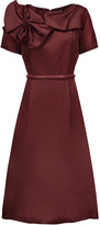 Raoul Asheville Rosette pleated embellished silk-taffeta dress
