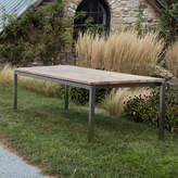 Teak & Steel Dining Table, 10'
