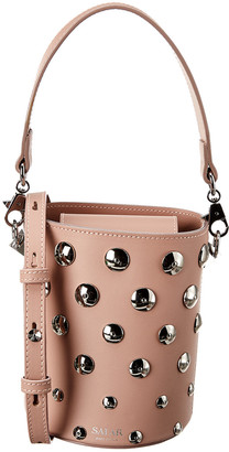 Salar Milano Celia Moon Leather Bucket Bag