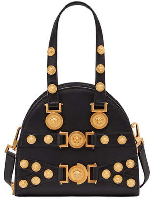 Versace Small Tribute Studded Leather Satchel