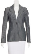 Karen Millen Striped Virgin Wool Blazer