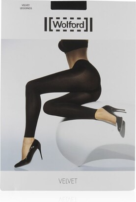 Wolford Black Velvet Leggings