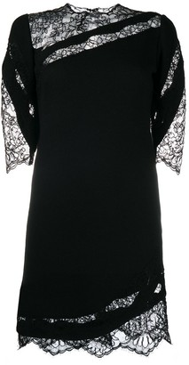 Ermanno Scervino Lace Insert Shift Dress