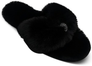 INC International Concepts Inc Women's Fluffy Thong Slippers, Created for Macy's
