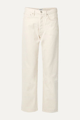 A Gold E Agolde AGOLDE - '90s Mid-rise Straight-leg Jeans - White
