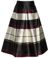Eliza J Women's Stripe Faille Midi Skirt