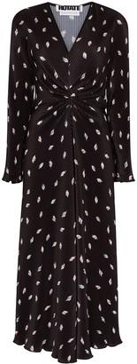 Rotate by Birger Christensen Number 7 plisse midi dress