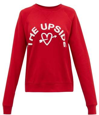 The Upside One Love Cotton-jersey Sweatshirt - Womens - Red