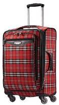 "American Tourister 20"" Carry On Luggage - Red Plaid"