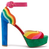 Christian Louboutin Degratissimo 130 Rainbow-suede Sandals - Womens - Multi