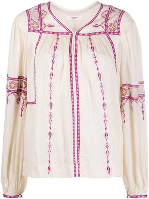 Etoile Isabel Marant Embroidered Peasant Blouse