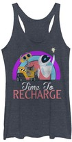 Fifth Sun Navy Heather WALL-E & EVE 'Time to Recharge' Tank - Juniors