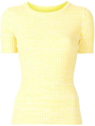 ANNA QUAN rib-knit cotton T-shirt