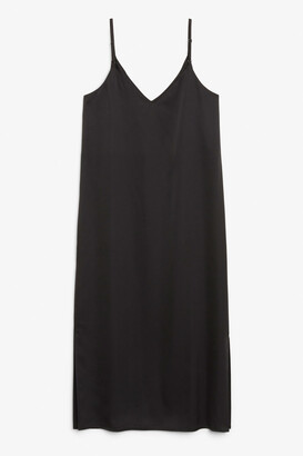 Monki Satin slip dress