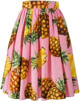 Dolce & Gabbana pineapple print midi skirt - women - Cotton - 44