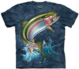 The Mountain Blue Rainbow Trout Crewneck Tee - Unisex
