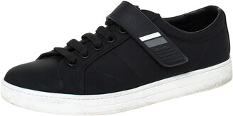 Prada Sport Black Fabric And Rubber Lace Up And Velcro Sneakers Size 41.5