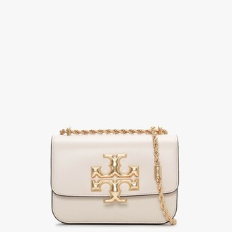 Tory Burch Small Eleanor Convertible New Cream Leather Shoulder Bag