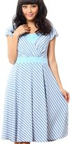 Sweet Mommy Maternity and Nursing Stripe Cache Coeur Design Dress BLWHM