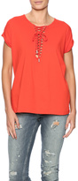 Gat Rimon V-Neck Lace Up Top
