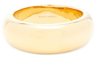 Alexander McQueen Hinged Polished Bangle - Gold