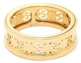 Gucci Icon Twirl Logo 18k Yellow Gold Ring 5.75