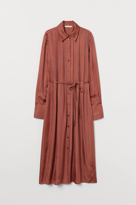 H&M Silk-blend shirt dress