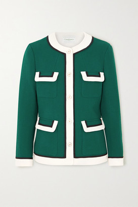 Casablanca Wool-crepe Jacket - Green
