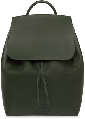 Mansur Gavriel Large Calf Backpack - Moss