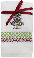 Dena Peppermint Twist Embroidered 2-Pc. Fingertip Towel Set