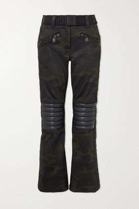 Goldbergh Battle Belted Camouflage-print Bootcut Ski Pants - Army green