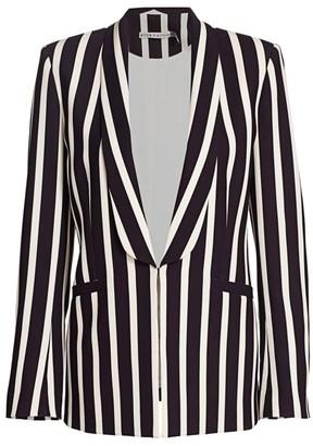 Alice + Olivia Skye Striped Open-Front Blazer