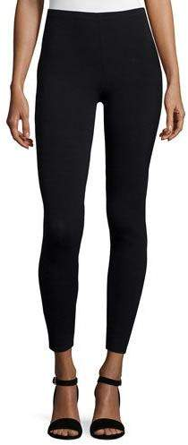 Eileen Fisher Viscose Jersey Leggings, Black