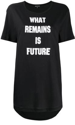 Ann Demeulemeester Slogan Print T-Shirt