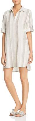 Elan International Ticking Striped Shirt Dress