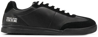 Versace Suede-Trimmed Low Top Trainers