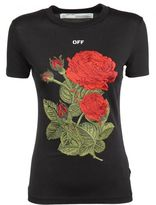 Off-White Off White Rose Embroidery T-shirt