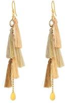 Chan Luu 18k Gold Plated Sterling Silver w/ Multi Tassels Earring