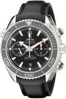 Omega Men's 23232465101003 Stainless Steel Swiss Automatic Watch With Leather Band