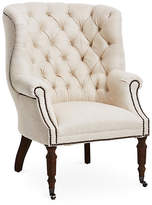 Regina-Andrew Design Clarissa Tufted Linen Club Chair - Ivory - Regina Andrew Design