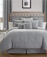 Waterford Carlisle Platinum Reversible King Comforter Set Bedding