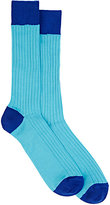 Barneys New York MEN'S RIBBED MID-CALF SOCKS