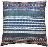 Kim Salmela Koto Embroidered 22x22 Pillow, Indigo