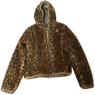 K-Way Beige Faux fur Jackets