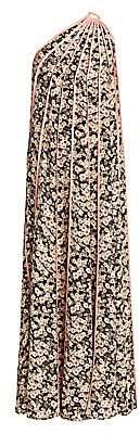 Stella McCartney Women's Louisa Silk Stripe One-Shoulder Floral Dress